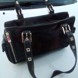 Perkins black Vtg Italian Handbag
